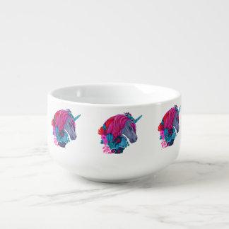 Cute Violet Magic Unicorn Fantasy Illustration Soup Mug