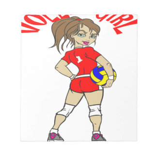 CUTE VOLLEY GIRL NOTEPADS