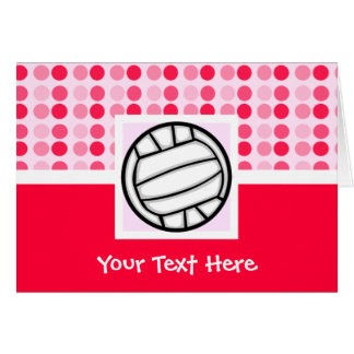 Cute Volleyball Card