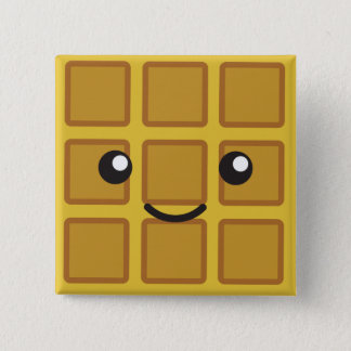 Cute Waffle 2 Inch Square Button