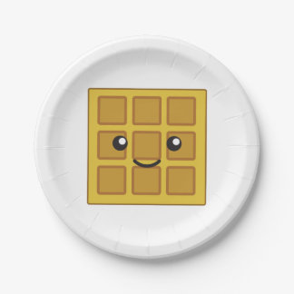 Cute Waffle Paper Plate
