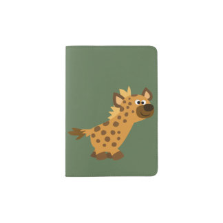 Cute Walking Cartoon Hyena Passport Holder