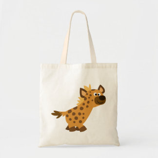 Cute Walking Cartoon Hyena Tote Bag
