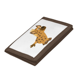 Cute Walking Cartoon Hyena Tri-fold Wallets