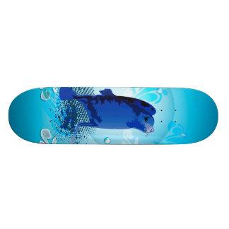 Cute walrus with decorative splash elements skateboard decks