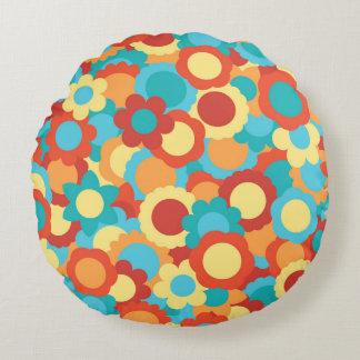 Cute warm Flower Pattern Round Pillow