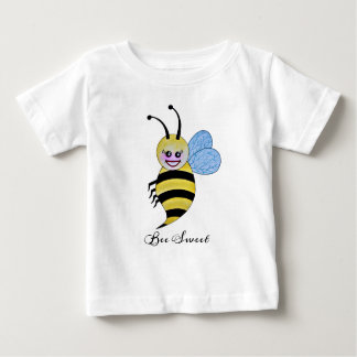 Cute Watercolor Bee With Happy Smile Baby T-Shirt