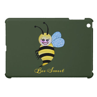Cute Watercolor Bee With Happy Smile Case For The iPad Mini