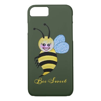 Cute Watercolor Bee With Happy Smile Case-Mate iPhone Case