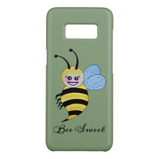 Cute Watercolor Bee With Happy Smile Case-Mate Samsung Galaxy S8 Case