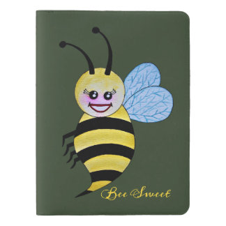 Cute Watercolor Bee With Happy Smile Extra Large Moleskine Notebook