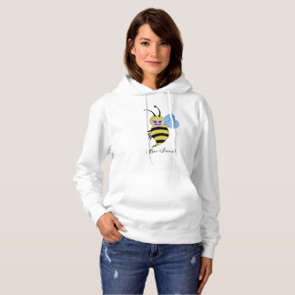 Cute Watercolor Bee With Happy Smile Hoodie