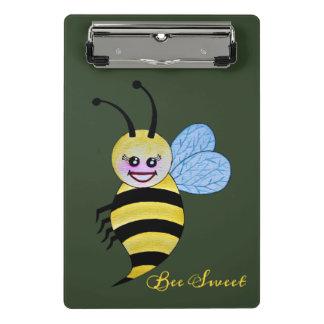 Cute Watercolor Bee With Happy Smile Mini Clipboard