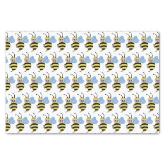 Cute Watercolor Bee With Happy Smile Tissue Paper