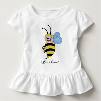 Cute Watercolor Bee With Happy Smile Toddler T-shirt