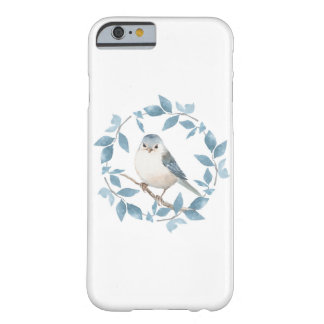 Cute watercolor bird and floral wreath barely there iPhone 6 case