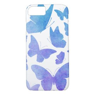 Cute Watercolor Butterflies Purple Blue Butterfly iPhone 8/7 Case