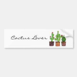 Cute Watercolor Cactus In Pots Bumper Sticker