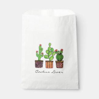 Cute Watercolor Cactus In Pots Favour Bag