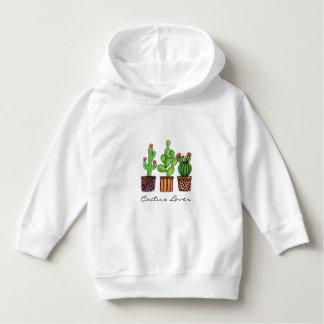 Cute Watercolor Cactus In Pots Hoodie