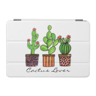 Cute Watercolor Cactus In Pots iPad Mini Cover
