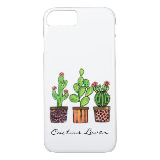 Cute Watercolor Cactus In Pots iPhone 8/7 Case