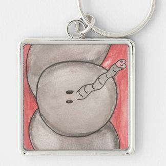 Cute Watercolor Cartoon Elephant Keychain