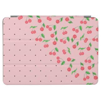 cute watercolor cherry black polka dots pattern iPad air cover