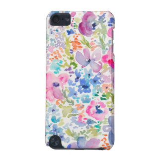 Cute Watercolor Flower Background iPod Touch (5th Generation) Cases