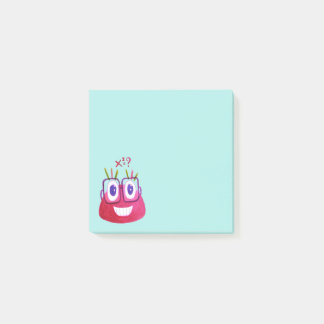 Cute Watercolor Geek Candy Character Mathematician Post-it Notes