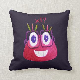 Cute Watercolor Geek Candy Character Mathematician Throw Pillow