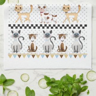 Cute Watercolor Kitty Cat Towels