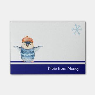 Cute Watercolor Penguin Post-it® Notes