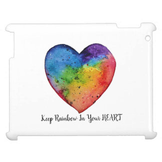 Cute Watercolor Rainbow Heart Cover For The iPad 2 3 4