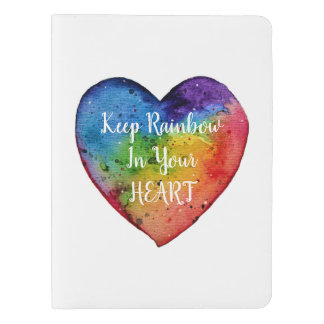 Cute Watercolor Rainbow Heart Extra Large Moleskine Notebook