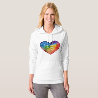 Cute Watercolor Rainbow Heart Hoodie