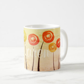 Cute Watercolor Roses Bright Floral Mug