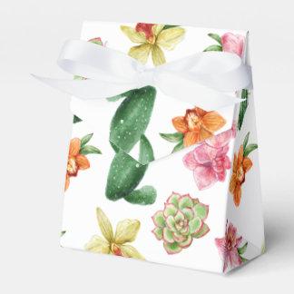 Cute Watercolor Succulent hand drawn pattern Favor Box