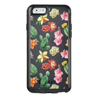 Cute Watercolor Succulent hand drawn pattern OtterBox iPhone 6/6s Case