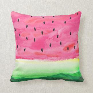 Cute Watercolor Watermelon Pillow