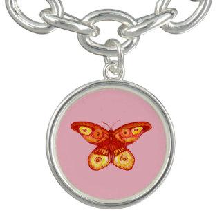 Cute Watercolour Butterfly Charm Bracelet