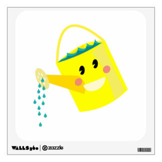 Cute Watering Can Wall Sticker