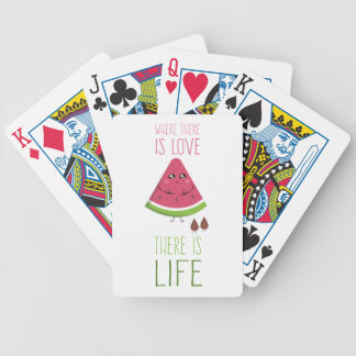 Cute Watermelon Bicycle Playing Cards