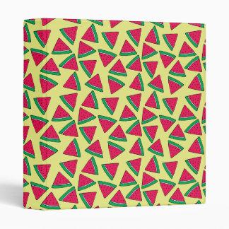 Cute Watermelon Slice Cartoon Pattern Binders
