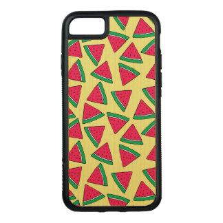 Cute Watermelon Slice Cartoon Pattern Carved iPhone 8/7 Case