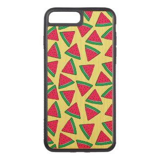 Cute Watermelon Slice Cartoon Pattern Carved iPhone 8 Plus/7 Plus Case