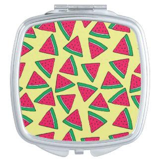 Cute Watermelon Slice Cartoon Pattern Compact Mirrors