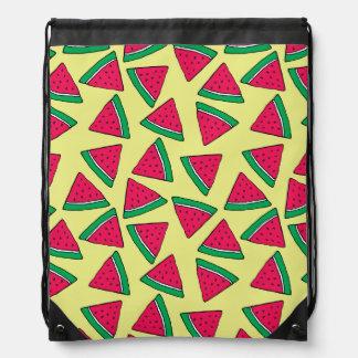Cute Watermelon Slice Cartoon Pattern Drawstring Bag