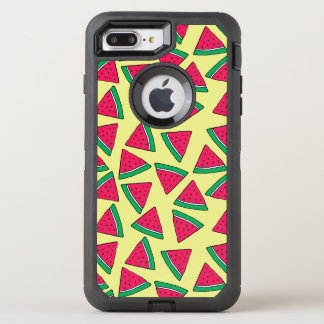 Cute Watermelon Slice Cartoon Pattern OtterBox Defender iPhone 8 Plus/7 Plus Case