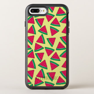 Cute Watermelon Slice Cartoon Pattern OtterBox Symmetry iPhone 8 Plus/7 Plus Case